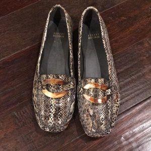 Gently Loved Stuart Weitzman Snakeprint Loafers